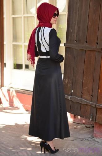 Siyah beyaz etekli kombin pictures to pin on pinterest - Pin Siyah 2014 Kayra Yazl K Tesett 252 R Elbise Modelleri On