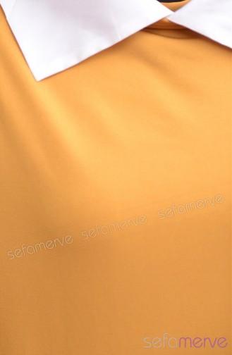 Demet Yıldız Long Tunic 7744-02 Saffron 7744-02
