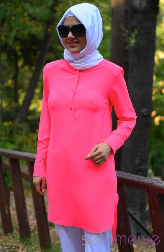 Buttons Plain Tunic 8110-05 Pink 8110-05