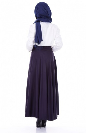 Navy Blue Skirt 2146-02