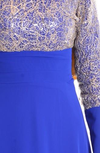 Saxon blue İslamitische Avondjurk 2369-01