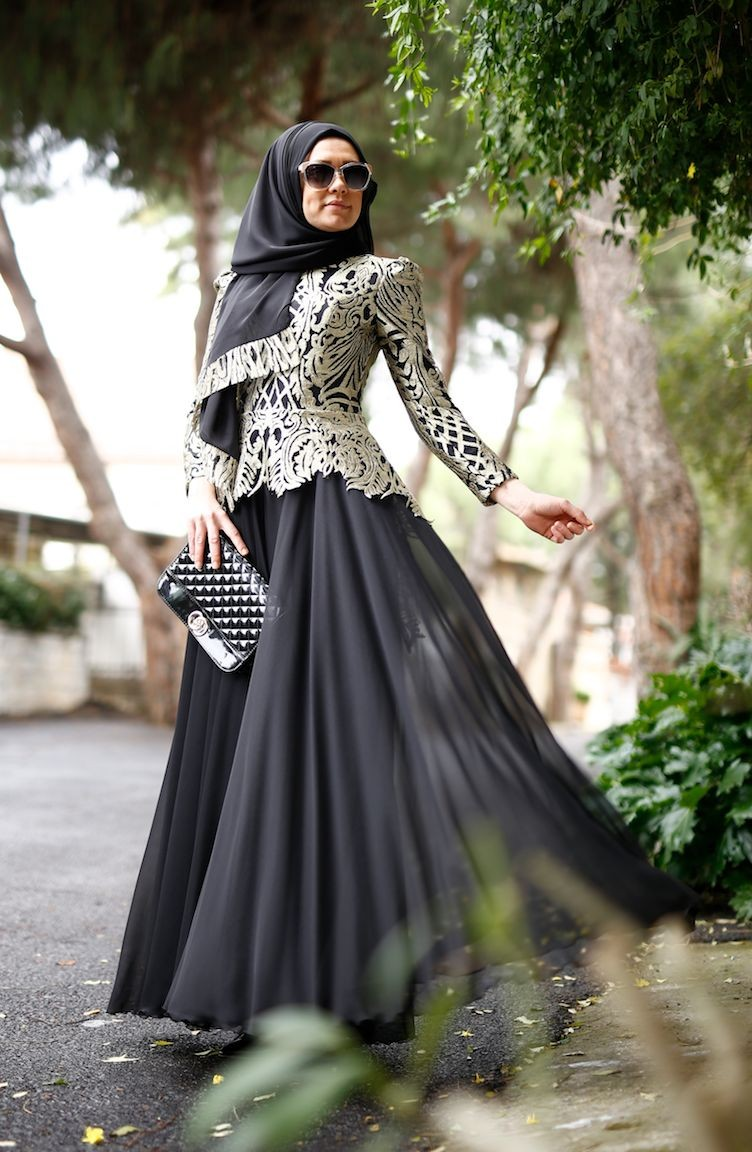 3d0ebf3069566 فساتين سهرة بتصميم اسلامي أسود 0004-01