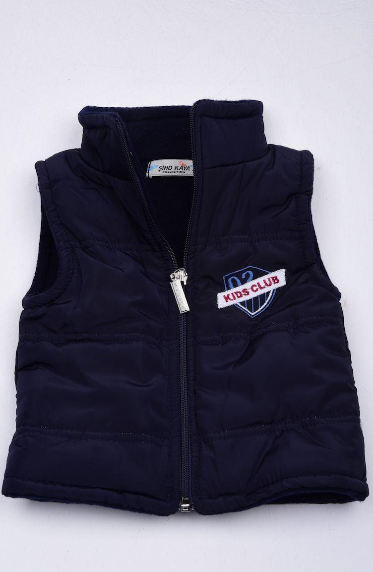 e6a3c08e9 Navy Blue Baby Vest 0200-06