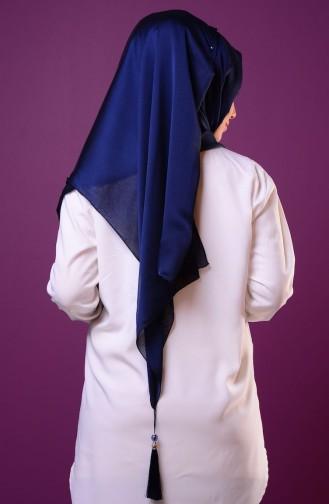 Navy Blue Sjaal 22