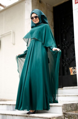 Robe de Soirée 0021-01 Vert 0021-01