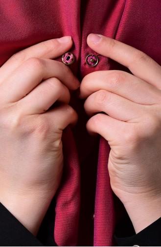 Fuchsia Sjaal met Drukknoop 1-11