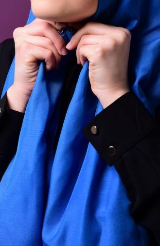 صفامروة شال بتصميم كباس C1-12 لون أزرق 1-12