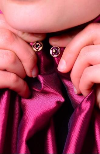 Damson Sjaal met Drukknoop 1-04