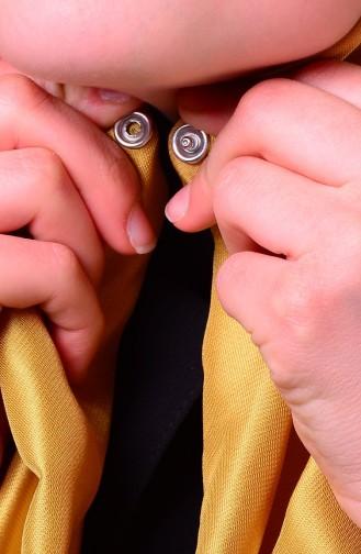 صفامروة شال بتصميم كباس E2-01 لون أصفر داكن 2-01