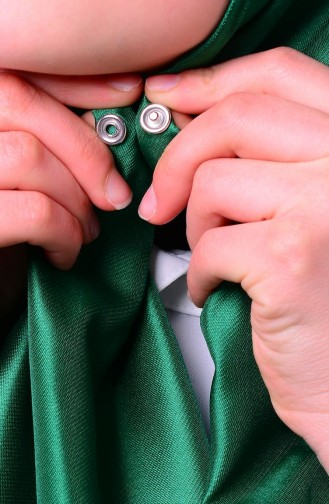 Smaragdgrün Umhänge mit Druckknopf 2-07