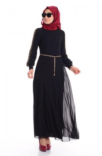 Schwarz Hijap Kleider 52418-02