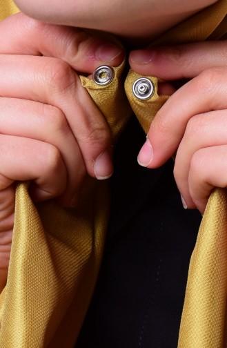 Yellowish Green Sjaal met Drukknoop 1-01