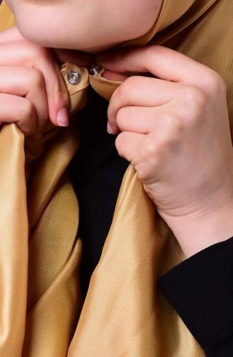 صفامروة شال بتصميم كباس E1-13 لون أصفر 1-13