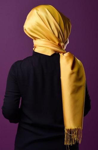 Mustard Sjaal met Drukknoop 1-14