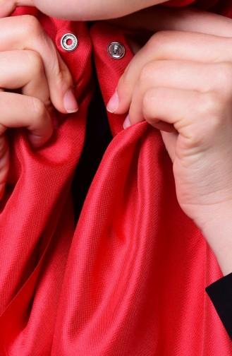 صفا ميرفي-شال بتصميم لامع لون أحمر 1-03