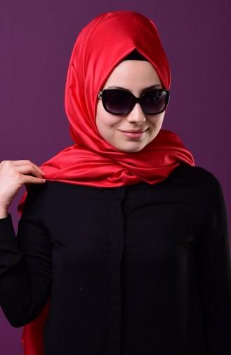 Red Snap Fastener Shawl 1-03