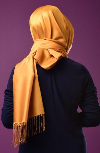 Dark Mustard Sjaal met Drukknoop 1-22