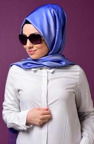 Blue Snap Fastener Shawl 1-10