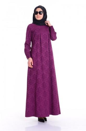 Fuchsia İslamitische Jurk 7256-13