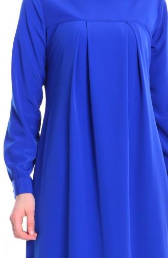Saxe Hijab Dress 7256A-01