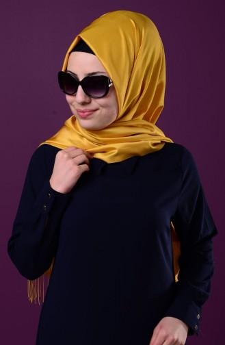 Saffron Sjaal met Drukknoop 1-33