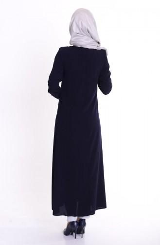 Navy Blue Abaya 0455-02