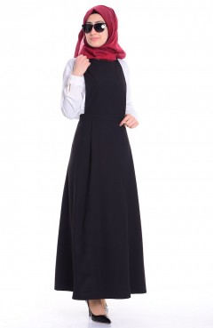 Sefamerve Jile Elbise 0615-05 Siyah