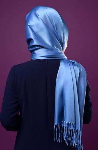 Blue Sjaal met Drukknoop 1-26