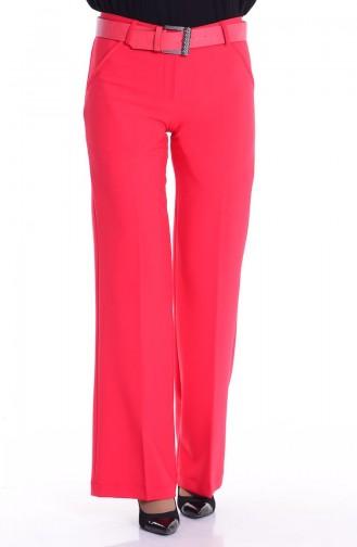 Pantalon a Ceinture 3068-12 Rouge 3068-12