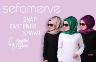 Sefamerve Snap Fastener Shawl by Fazilet Özkan