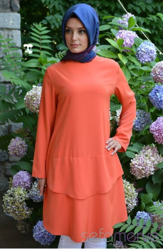 Orkide KatKat Tunic 2652-10 Orange 2652-10