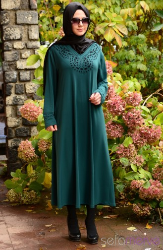 New Season Dress Models SHALL 2642-03 Green 2642-02