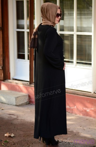New Season Dress Models SHALL 2644 01 Black 2644-01