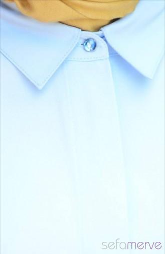 Nuran Görk Uzun Tunik 12198-01 Mavi 12198-01