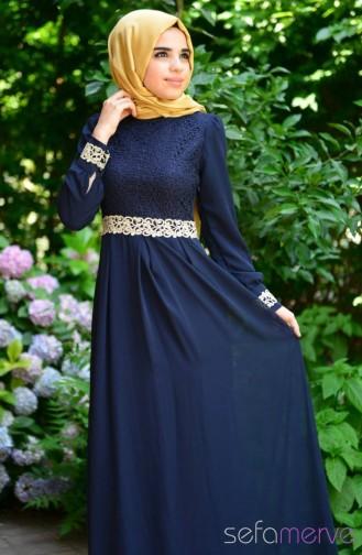 Hijab Dress FY 51983-01 Navy Blue 51983-01