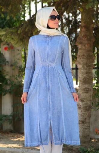 Tesettür Kap Şükran 35633-01 Mavi