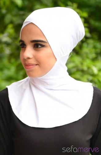 Sefamerve Hijab Bonnet 21 White 21