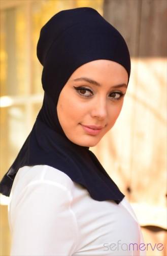 صفا مروة بونيه بتصميم حجاب 03 لون كُحلي 03