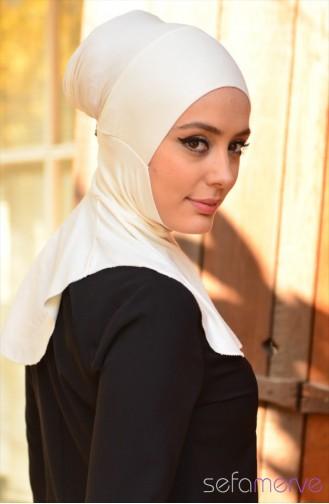 Sefamerve Hijab Bonnet 06 white 06