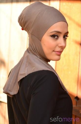 Sefamerve Hijab Bonnet 07 Dark Mink 07