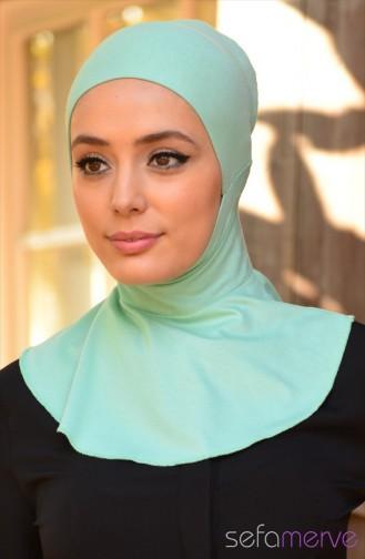 Sefamerve Hijab Bonnet 18 Mint Green 18