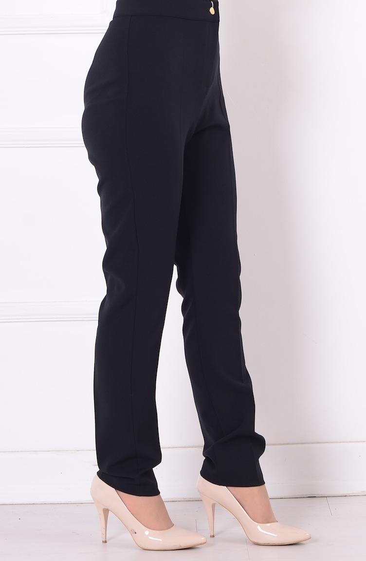 düz paça pantolon 1004-03 siyah