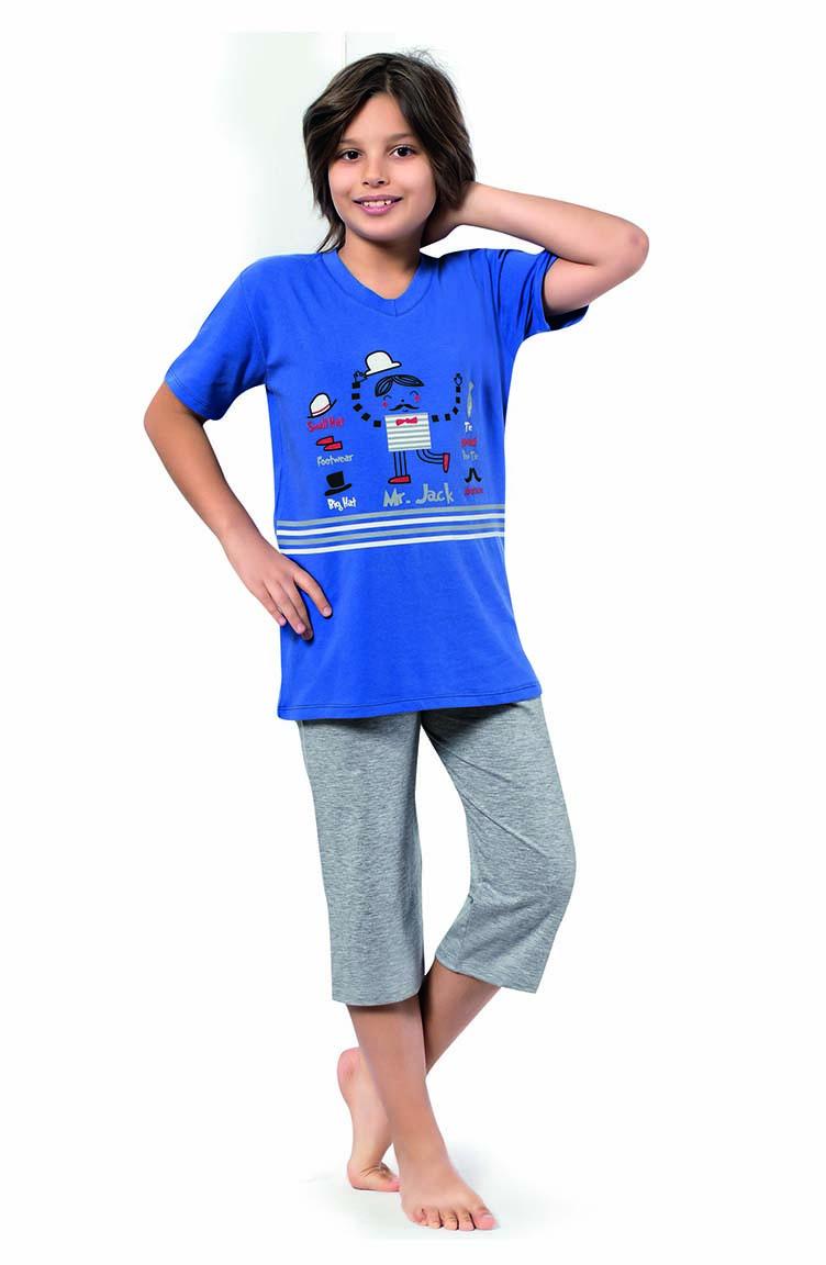 Sefamerve Erkek Çocuk Kapri Pijama Takımı 3270 Parlament