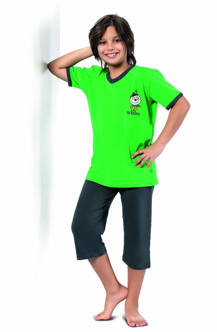 Sefamerve Erkek Çocuk Kapri Takımı 3282 Fıstık Yeşili