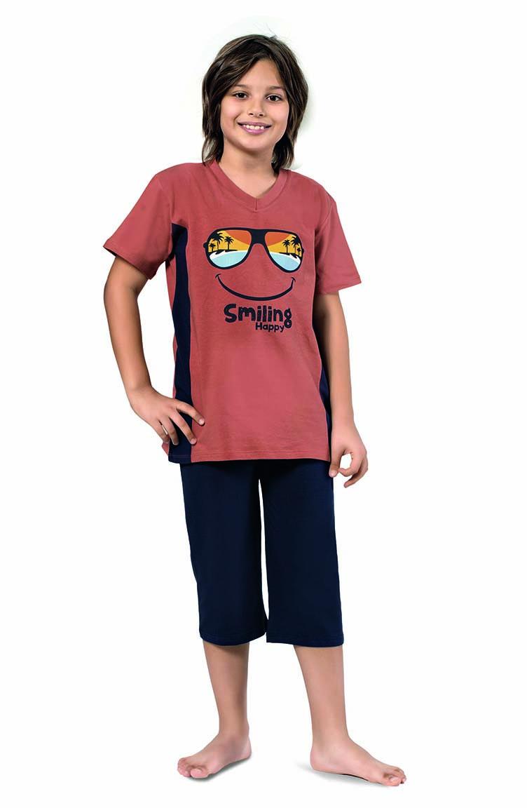 Sefamerve Erkek Çocuk Kapri Takımı 3283 Soğan Kabuğu