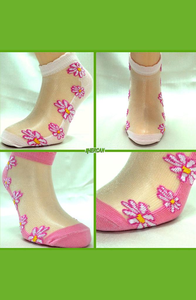 Hercan Çorap İkili Set Tül Patik 72016-01 Pembe
