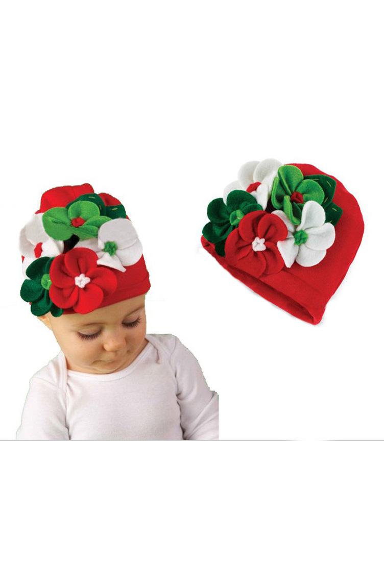 Baby Dora Saç Bandı Modelleri Baby Dora MGS84 Şapka 53 Kırmızı Beyaz Yeşil