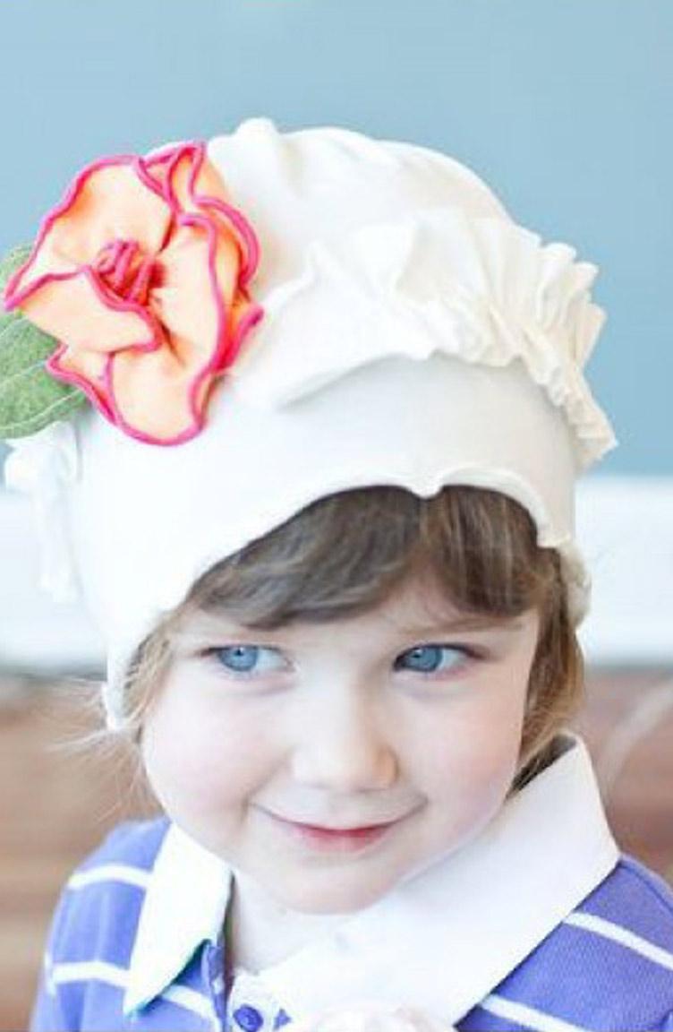 Baby Dora Saç Bandı Modelleri Baby Dora MGS22 Şapka Beyaz Sarı Fuşya
