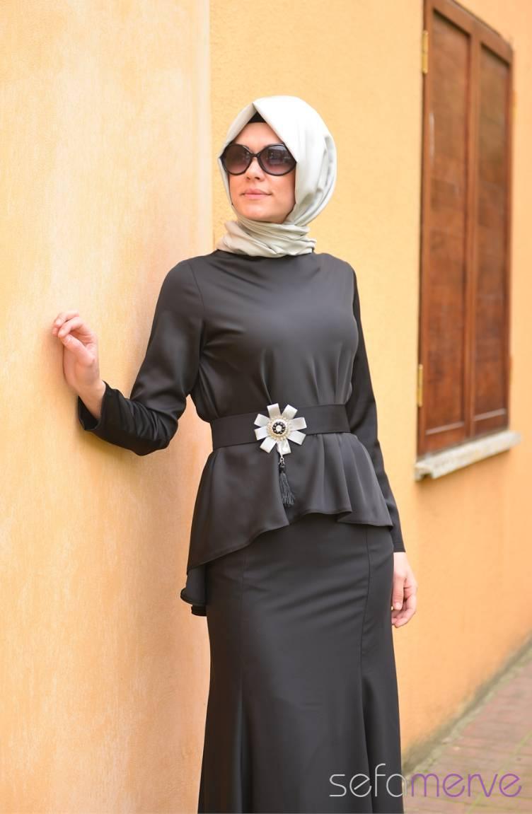 Sefamerve Abiye Modelleri Sefamerve Elbise Modelleri 40848 02 Siyah