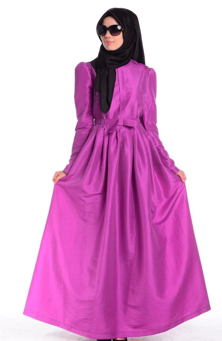 Şükran Tesettür Kombin Tesettür Elbise Şükran 4164-04 Fuşya